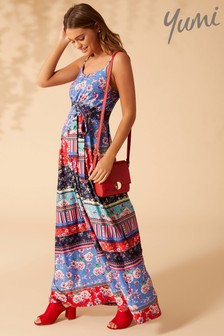 Yumi Patchwork Maxi Dress