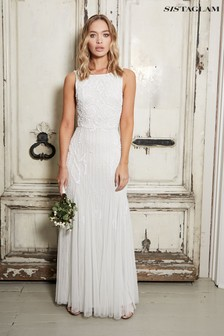 Sistaglam Embroidered Bridal Maxi Dress