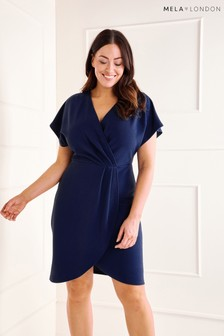 27ba9e7ff7 Mela London Curve Capped Sleeve Dress