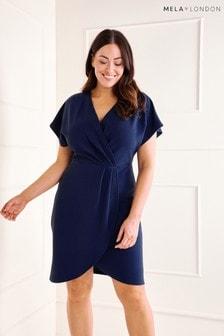 Mela London Curve Capped Sleeve Dress