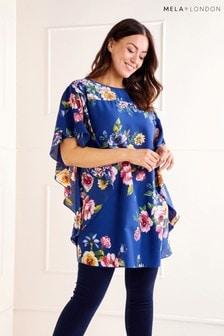 Mela London Curve Floral Print Blouse