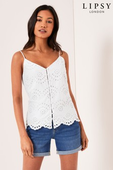 Lipsy Button Through Cami Top