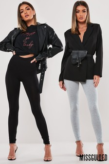 Missguided Jersey Leggings - Pack of 2
