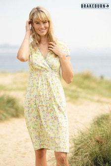 Платье лимонного цвета с запахом Brakeburn