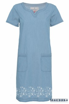 Brakeburn Gewebtes Kleid mit Raffung