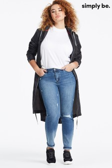 Simply Be Distressed Boyfriend Jeans