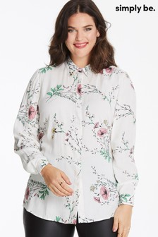 Simply Be Long Sleeve Printed Shirt