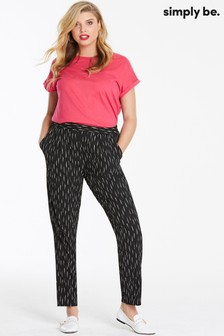 Simply Be Stripe Crepe Tapered Trousers