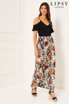 Lipsy 2 In 1 Cold Shoulder Maxi Dress