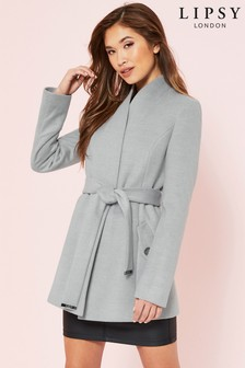 Lipsy Short Wrap Robe Coat