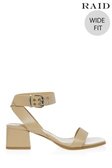 Raid Wide Fit Block Heel Buckle Sandal