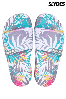 Slydes Tropical Print Sliders
