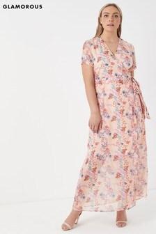 Glamorous Curve Floral Midi Dress