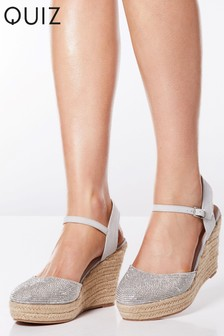 2540ddd2062 Quiz Diamanté Espadrille Wedge Sandals