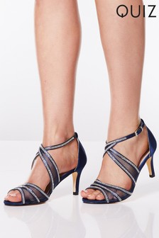 8d515c1799a Quiz Diamanté Strappy Low Heel Sandals