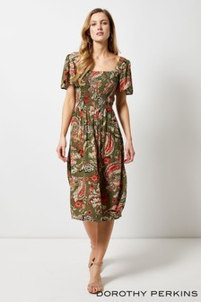 Dorothy Perkins Sarasa Flutter Sleeve Dress