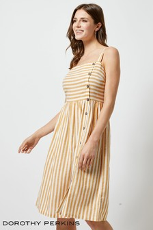 Dorothy Perkins Linen Look Stripe Cami Dress