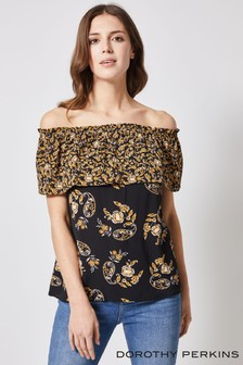 Dorothy Perkins Paisley Mix & Match Bardot Blouse