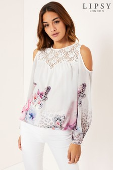 Lipsy Animal Butterfly Lace Top