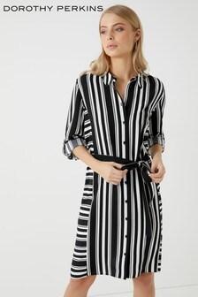 שמלת חולצה עם פסים של Dorothy Perkins