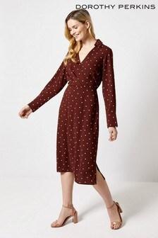 Dorothy Perkins Spot Midi Dress