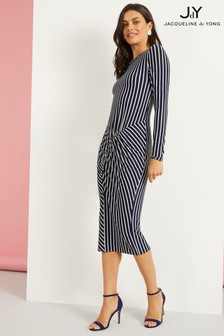 JDY Long Sleeve Striped Jersey Dress