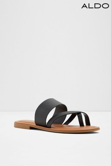 Aldo Flat Leather Toe Post Slide