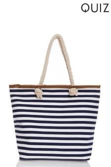 Quiz Striped Beach Bag
