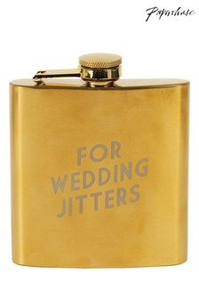 Paperchase Wedding Jitters Hipflask