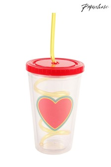 Paperchase Heart Straw Cup