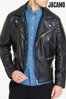 Jacamo Leather Biker Jacket