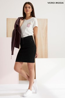 Vero Moda High Waist Denim Skirt