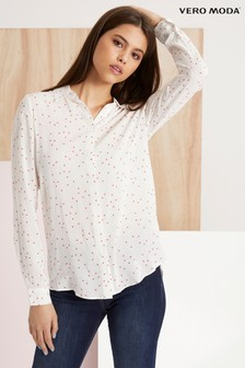 c03a0a3abe8eb Vero Moda Heart Shape Print Long Sleeve Shirt