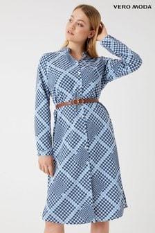 Sukienka z koszula z krótkim rękawem Vero Moda