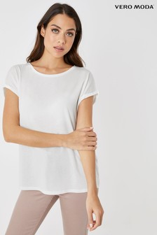 Vero Moda Plain Short Sleeve Top