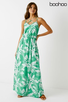 Boohoo Printed Maxi Dress