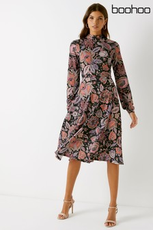 Boohoo Paisley Print Midi Dress