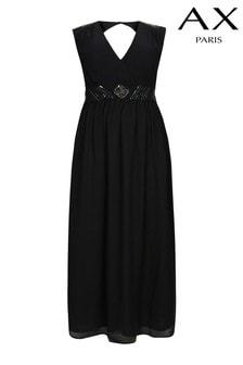 Vestido largo con adornos de AX Paris Curve