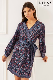 Lipsy Paisley Print Kimono Dress