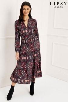 שמלת מידי שכבות עם הדפס פרחוני של Lipsy