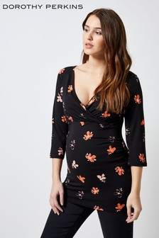 Dorothy Perkins Maternity Floral Wrap Top