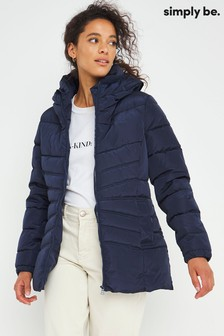 Simply Be Water Resistant Short Padded Coat
