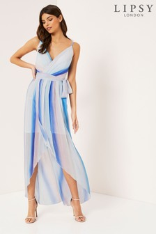 Lipsy Ombre Pleated Maxi Dress