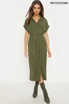 PrettyLittleThing Utility Shirt Dress