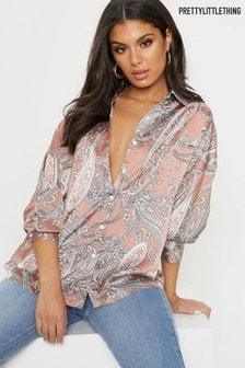 PrettyLittleThing Paisley Print Shirt