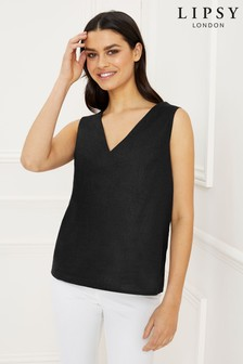 Lipsy Linen Shell Top