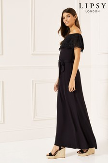 Lipsy Broderie Bardot Maxi Dress