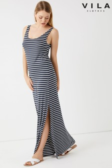 שמלת מקסי עם פסים של Vila