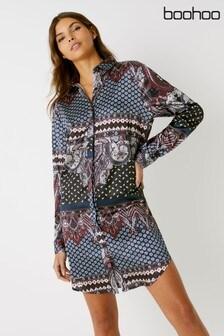 02a799bf67 Buy Women s dresses Shirtdress Shirtdress Dresses Boohoo Boohoo from ...