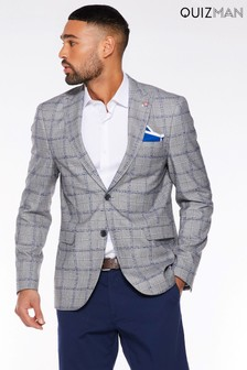 Quizman Window Pane Check Blazer